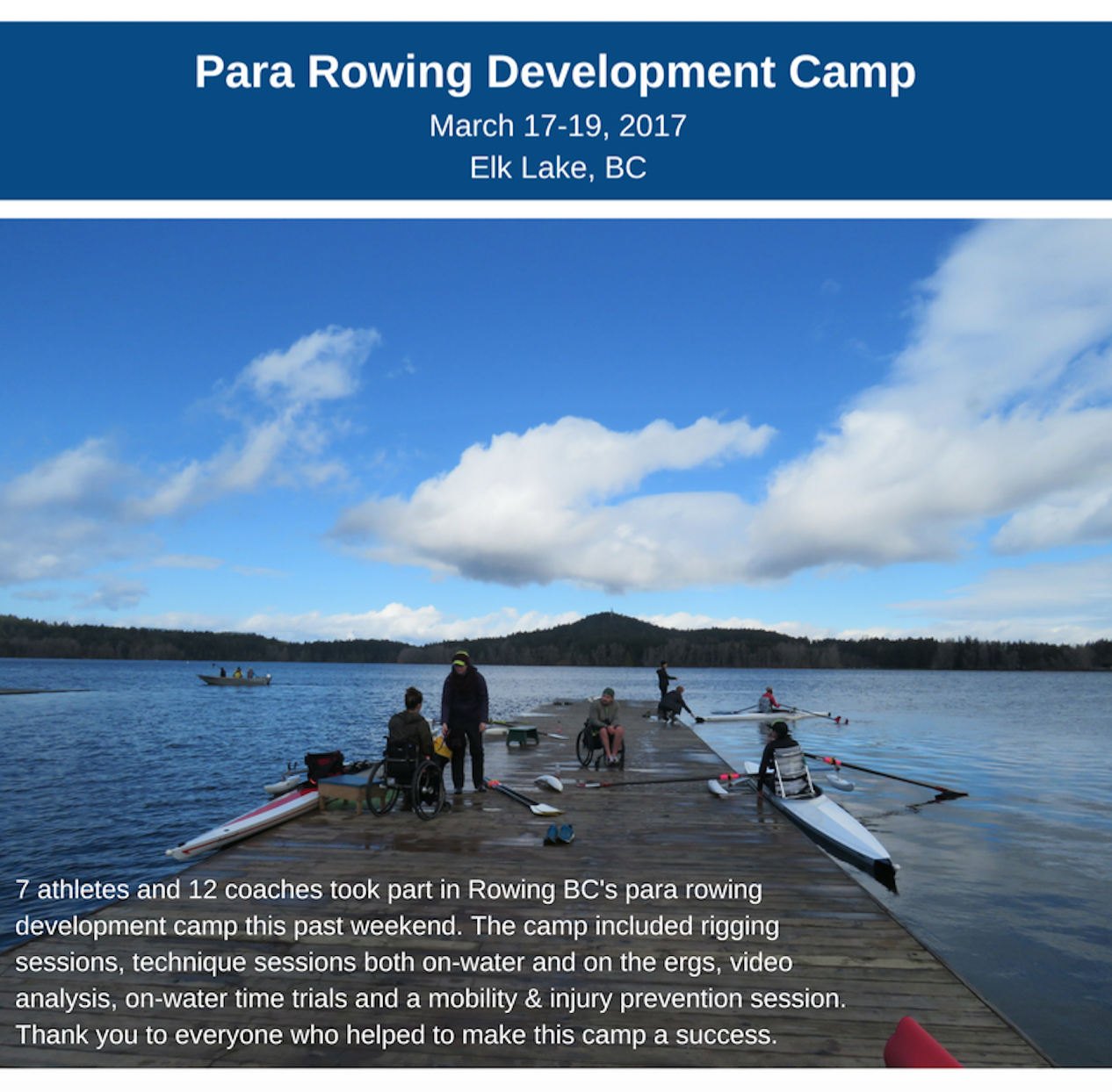 Rowing BC Para Development Camp