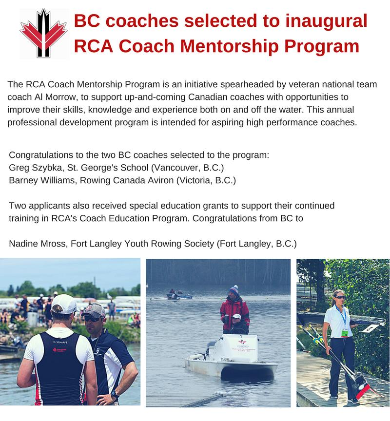 BC Coaches Selected To Inaugural RCA Coach Mentorship Program