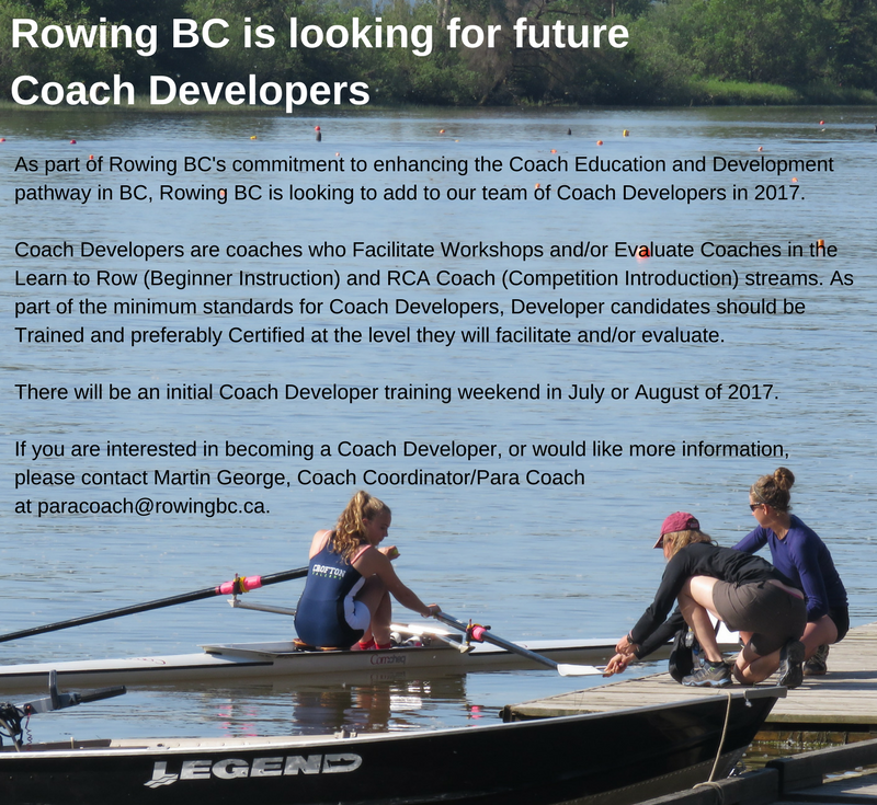 Rowing BC Is Looking For Future Coach Developers