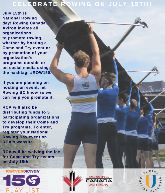 Celebrate Rowing On July 15th