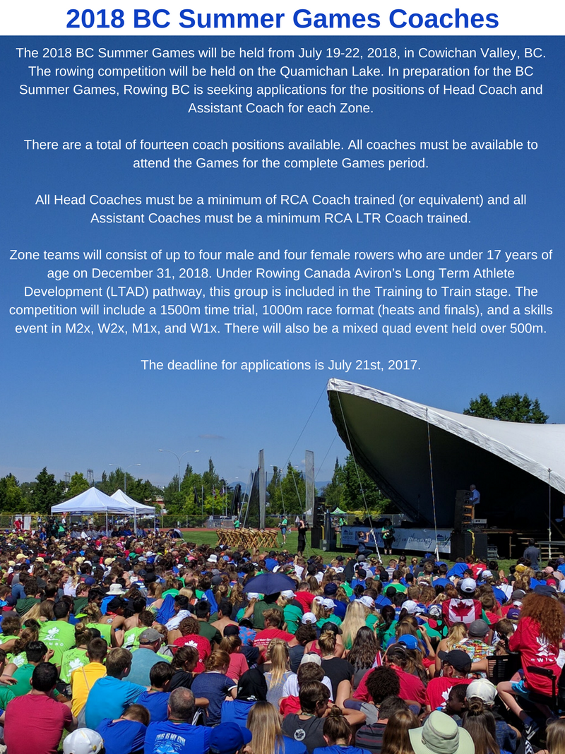 Call For Applications: 2018 BC Summer Games Coaches