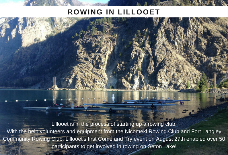 Lillooet Rowing Club's First Come And Try Event