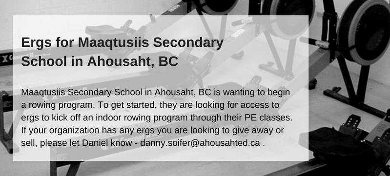 Ergs For Maaqtusiis Secondary School In Ahousaht, BC 2