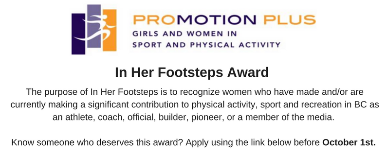 In Her Footsteps Award