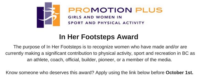 In Her Footsteps Award