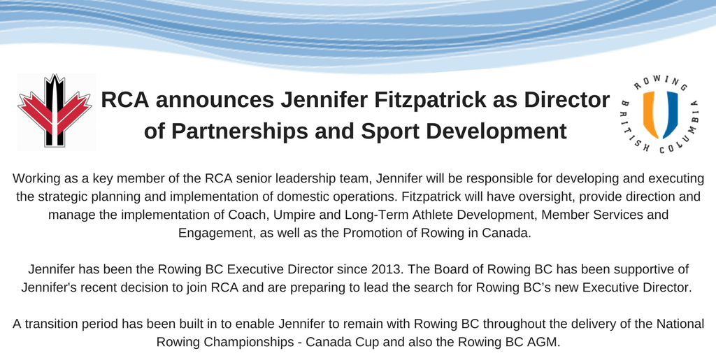 RCA Announces Jennifer Fitzpatrick As Director Of Partnerships And Sport Development