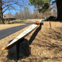 B & H mahogany single rowing scull